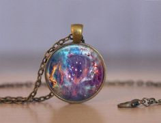 Galaxy 11 Necklace or Keychain  Galaxy by MaDGreenCreations
