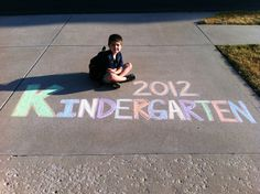 Your Retail Helper: Back to School 2012. This is quickly becoming a family tradition. I draw out a chalk design for the kids on their first day of school.