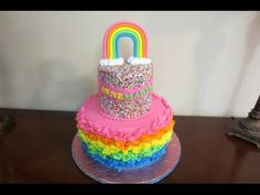 How to make a Fondant Ruffle Cake - YouTube