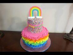How to make a Fondant Ruffle Cake - YouTube