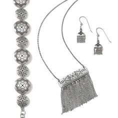 Brighton's new exotic Marrakesh Collection takes a modern turn this season with a sassy tassel necklace and earrings