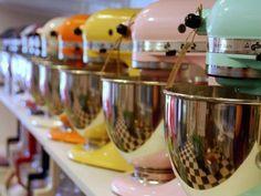 colorful kitchen aids make me happy