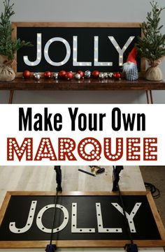 Learn how to make your own lighted marquee with these great tips!