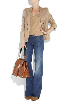 camel with jeans...camel is in this season. the girl in me that secretly loves color cringes; the girl that actually has a closet full of neutrals rejoices. Also: need to learn how to rock a blazer.