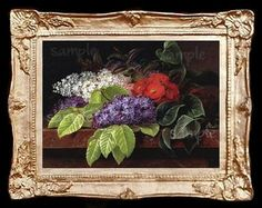 Flowers Still Life Miniature Dollhouse Art Picture 6722