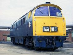 """Class 52 'Western' diesel hydraulic No. D1062 """"Western Courier"""" on display at Swindon Works during 1976."""
