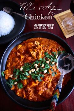 West African Chicken & Peanut Stew  We aren't big on sweet potatoes - I'll use regular next time or carrots instead. Sauce was good! Can make paleo by using almond butter.