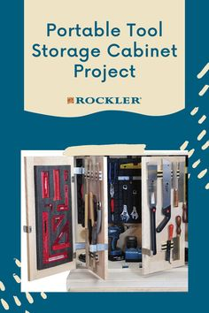 Build this portable cabinet for your shop! Moveable storage that keeps your tools organized and readily at hand. Download it for free here. #CreateWithConfidence #ShopStorage #Portable #FreeWoodworkingPlan #ShopOrganization Woodworking Shop, Woodworking Plans, Woodworking Projects, Shop Storage, Locker Storage, Tool Storage Cabinets, Magnetic Chalkboard, Plywood Panels, Workshop Organization