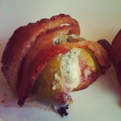 Bacon-Wrapped Figs Stuffed With Blue Cheese