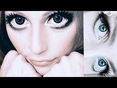 Doll Eye Makeup, Anime Eye Makeup, Anime Cosplay Makeup, Barbie Makeup, Red Makeup, Clown Makeup, Halloween Makeup, Big Eye Makeup, Costume Makeup