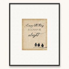 5x7 Three Little Birds Art Print Every Little by PopRocksDesign, $8.00