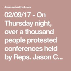 02/09/17 - On Thursday night, over a thousand people protested conferencesheld by Reps. Jason Chaffetz of Utah and Diane Black of Tennessee in response to the decision to repeal Obamacare.  According to CNN, a school auditorium in a suburb of Salt Lake Citywas packed with angry constituents ready to confront Chaffetz.