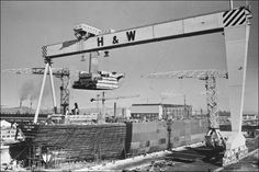 This is Harland and Wolff, the place the Titanic was assembled. It took 2 and years to build the Titanic. Gantry Crane, Rms Titanic, Belfast, Northern Ireland, Past, To Go, Fair Grounds, British, Ship