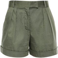 Vilshenko Rebecca Cotton Raso Shorts ($565) ❤ liked on Polyvore featuring shorts, highwaist shorts, high rise shorts, high-waisted shorts, highwaisted shorts y high waisted short shorts