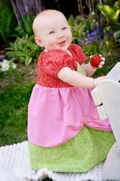 Strawberry Shortcake Dress 12 months 12 girls by Nannabells