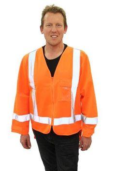 Safety Vests: Shop Online @ Highway We stock a range of TTMC compliant safety vests (high visibility vests) for both adults and children. Orange Vests, Sand Bag, Highway 1, Long Sleeve Shirts, Safety, Bomber Jacket, Sleeves, Jackets, Pedestrian