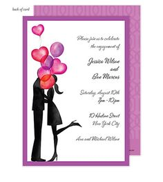 Balloon Love Invitation #bridalshowerinvitation #engagementpartyinvitation