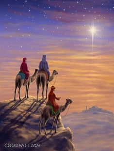 biblical wise men christmas painting - Google Search