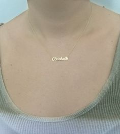 FLASH SALE 35 Tiny Name Necklace Personalized Gold Name Necklace