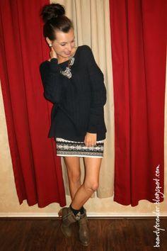 Winter Print Sweater Skirt #beautybrawler