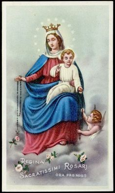 """SANTINO-HOLY CARD""""""""EDIZ. EB-N.2/806 REGINA SACRATISSIMI ROSARII - EUR 3,00. SANTINO-ANDACHTSBILD-IMAGE PIEUSE-HOLY CARD VECCHIO SANTINO ORIGINALE. costi di imballaggio e spedizione versand und verpackungskosten costs of packing and shipment il costo aumentera' se la spedizione supera i 100 grammi the cost will increase if the shipment excceds 100 grams uber 100 gr. gewicht steigen die portokosten **** metodi di pagamento (accettati) forms of payment (i accept) akzeptierte zahlungsmethoden… I Love You Mother, Mother Mary, Madonna, Holy Mary, Art Thou, Infancy, Blessed Virgin Mary, Catholic Art, Prayer Cards"""