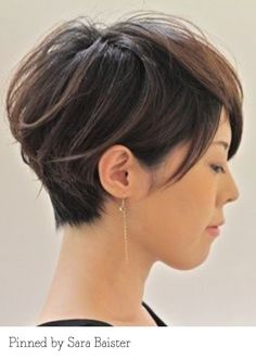 Long layered crop. Pinned by Sara Baister. Recreate it here... http://myhairdressers.com/hairdressing-training/basics-hair-cutting/short-graduation-technique.html