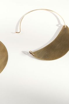 Lila Rice - Brass Crescent Hoops | BONA DRAG