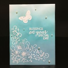 Created this card for my online card class, clear and sheer. Color the vellum with three different colors.