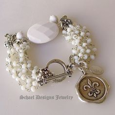 Crisp Silver & White Bracelet