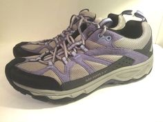 Merrell Calia Trekking and Hiking Shoes, Purple (Marlin), Women's Size 9 #Merrell #WalkingHikingTrail