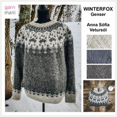 Nordic Sweater, Men Sweater, Knitting Paterns, Icelandic Sweaters, Fair Isle Knitting, Sweater Design, Handicraft, Wool, Pattern