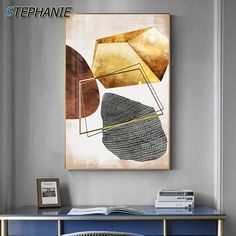 """""""Abstract Yellow Stone Canvas Painting Popular Posters and Prints Wall Pictures for Living Room Nordic Minimalist Wall Art Decor"""" Living Room Pictures, Wall Art Pictures, Landscape Walls, Beach Landscape, Forest Landscape, Coastal Wall Art, Coastal Decor, Black And White Wall Art, Living Room Art"""