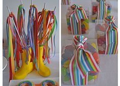 Lots of cute rainbow party ideas