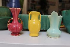 One Miniature Vase Pottery 1940s Pick one