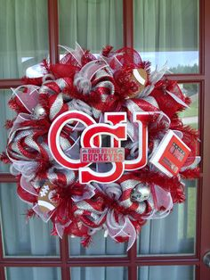 The Ohio State Buckeye wreath
