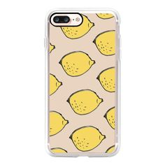 Lemon Tree - iPhone 7 Case, iPhone 7 Plus Case, iPhone 7 Cover, iPhone... ($40) ❤ liked on Polyvore featuring accessories, tech accessories, iphone case, slim iphone case, apple iphone case, iphone cover case and iphone cases