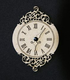 Dusty Attic - Laser cut Chipboard - Vintage Clock #2