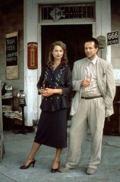 Charlotte Rampling and Mickey Rourke in Angel Heart (1987)