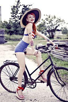 pin up Bike Rider, Pin Up, Bicycle, Bike, Bicycle Kick, Bicycles