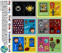 DOCTOR WHO - What a cute idea for a Doctor Who fan. Fabric for a baby Who book by scrummy on Spoonflower - custom fabric $18