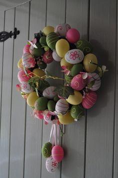 Easter egg wreath.....