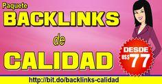Paquete #SEO de #linkbuilding - Posicionate rapido con backlinks de calidad. VISITA:  http://ift.tt/2bvgGz6