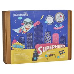 jackinthebox Superhero DIY Dress up Art and Craft Kit Make a Cape, Mask and Cuffs Best Gift for Boys Ages 5 6 7 8 Years 3 Craft Projects in 1 Box, Best Gifts For Boys, Cool Toys For Boys, Best Kids Toys, Arts And Crafts Kits, Craft Kits, Craft Projects, Popular Toys, Super Hero Costumes, 5 Year Olds