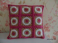 Crochet pillow case by klasika73 on Etsy