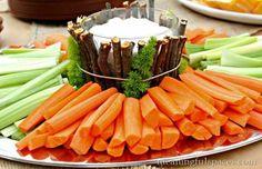 outdoor veggie tray