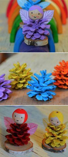 Pine Cone Fairy Craft Ideas