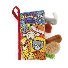 Jellycat Fluffy Tails Soft Book