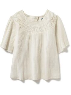 Lace-Yoke Swing Top for Toddler