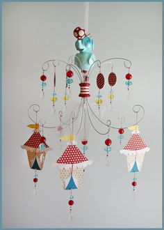 circus elephant mobile - fischtaleDesigns