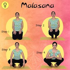 Garland Pose To Cure Irregular Periods and Menstrual Pain yoga 5 Yoga Poses That Will Cure Irregular Periods and Menstrual Pain Exercise To Reduce Stomach, Pcos Exercise, Menstrual Yoga, Malasana Pose, Period Remedies, Irregular Menstrual Cycle, Period Problems, Gym Workout Tips, Yoga Exercises